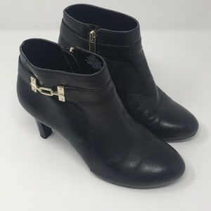Bandolino • Booties with Gold Buckle • Sz 7